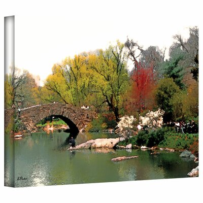 Linda Parker 'Saturday Central Park' Gallery-Wrapped Canvas Wall Art
