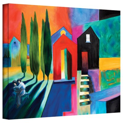 Art Wall Susi Franco 'Trying to Talk Her Into It' Gallery-Wrapped Canvas Wall Art