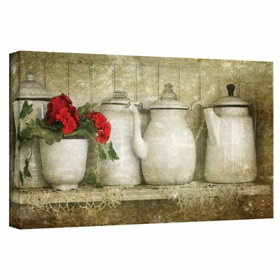 Art Wall David Liam Kyle 'Flower with Pots' Gallery-Wrapped Canvas Wall Art