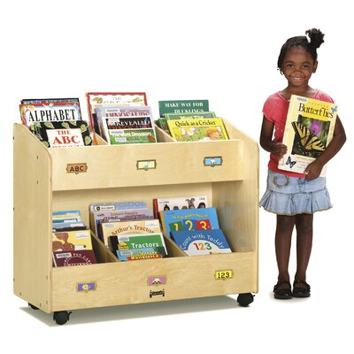 Jonti-Craft Mobile 6 Section Book Cart