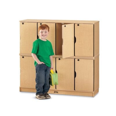 Jonti-Craft Double Stack Lockable Lockers