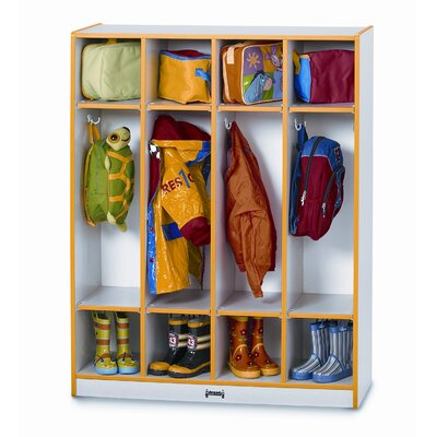Jonti-Craft 4 Section Coat Locker