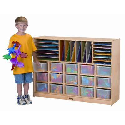 Jonti-Craft ThriftyKYDZ Sectional Mobile 34 Compartment Cubby