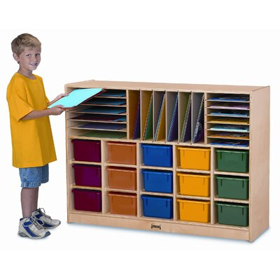Jonti-Craft ThriftyKYDZ Sectional Mobile Cubbie without Trays