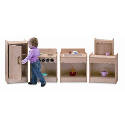 Jonti-Craft 4 Piece Contempo Wood Kitchen Set