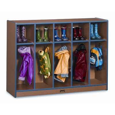 Jonti-Craft Sproutz 5 Section Toddler Coat Locker