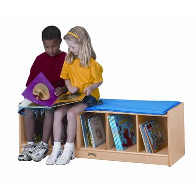 Jonti-Craft 5 Sections Bench Locker with Camel Cushion