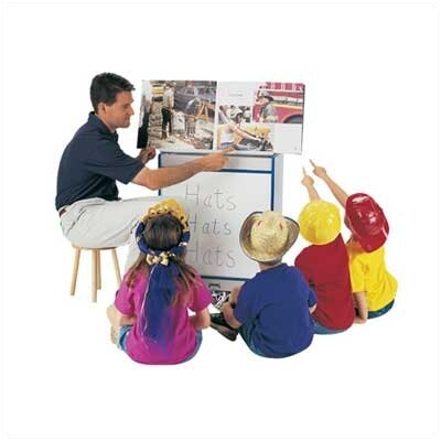 Jonti-Craft Rainbow Accents Big Book Easel - Write-n-Wipe