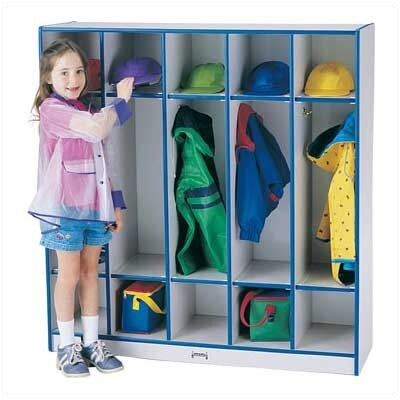 Jonti-Craft Rainbow Accents Coat Locker - 5 Sections