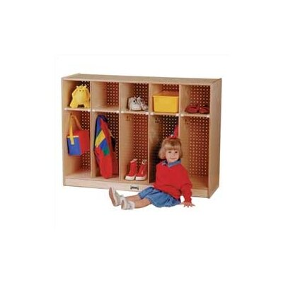 Jonti-Craft Toddler Coat Locker - 5 Sections