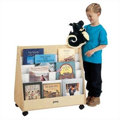 "Jonti-Craft 30"" H Mobile Pick-a-Book Stand - 2 Sided"