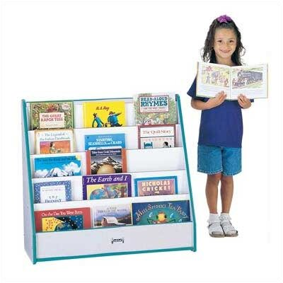 "Jonti-Craft 32"" H Rainbow Accents Pick-a-Book Stand Flush Back - 1 Sided"
