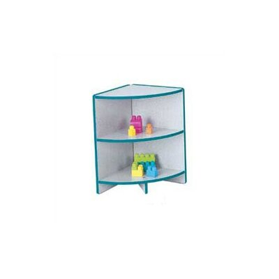 "Jonti-Craft KYDZ Curves 24"" H Rainbow Accents Corner Bookcase"
