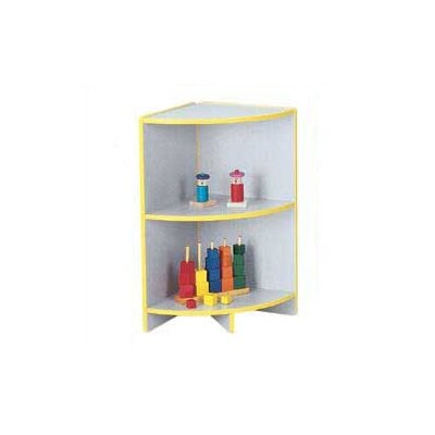 "Jonti-Craft KYDZ Curves 29"" H Rainbow Accents Corner Bookcase"