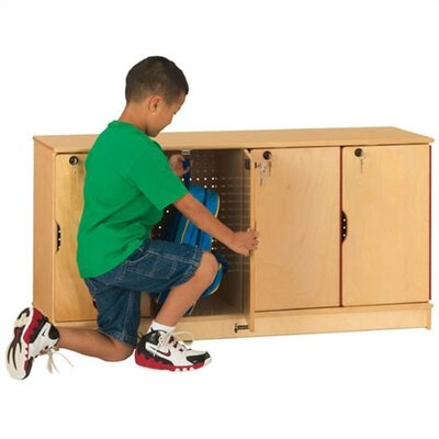 Jonti-Craft ThriftyKYDZ Stacking Lockable Lockers - 4 Sections