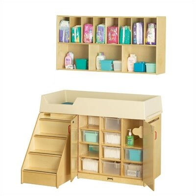 "Jonti-Craft Diaper Organizer/Changer Combo with Stairs - Rectangular (48.5"" x 23.5"")"