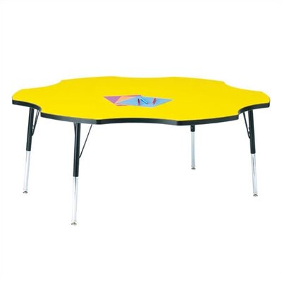 "Jonti-Craft KYDZ Toddler Height Activity Table- Six Leaf(60"" Diameter)"