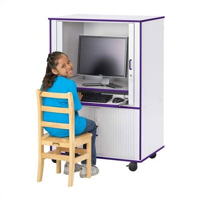 "Jonti-Craft Rainbow Accents Computer Cabinet - Rectangular (24"" x 33.5"")"