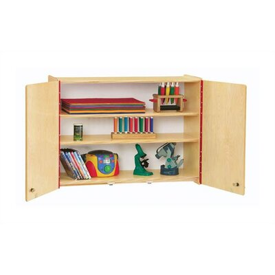 "Jonti-Craft KYDZ Lockable Wall Cabinet - Rectangular (35"" x 15"")"