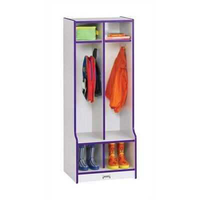 "Jonti-Craft Rainbow Accents Double Locker with Step - Rectangular (20"" x 17.5"")"