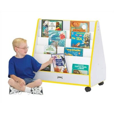 "Jonti-Craft 30"" H KYDZ Rainbow Accents Mobile Book Display - Rectangular"