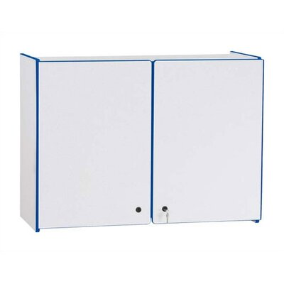 "Jonti-Craft KYDZ Rainbow Accents Lockable Wall Cabinet - Rectangular (35"" x 15"")"