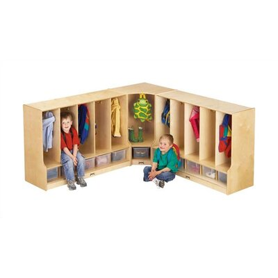 "Jonti-Craft KYDZ Coat Locker Corner Section - Toddler - Rectangular (24"" x 17.5"")"