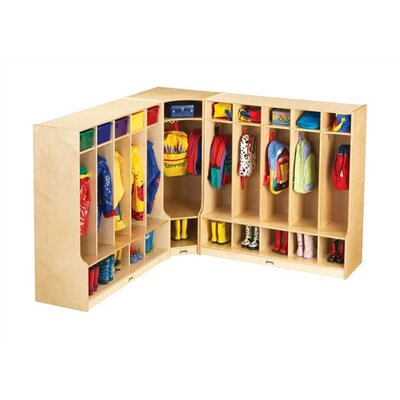 Jonti-Craft KYDZ Coat Locker Corner Section - Large - Rectangular (24&quot; x 17.5&quot;)