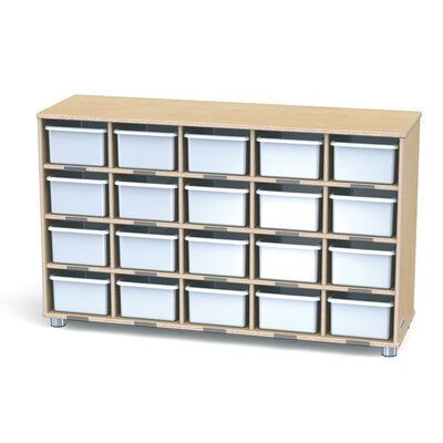 Jonti-Craft TrueModern Twenty-Cubbie Shelf With Cubbie Trays