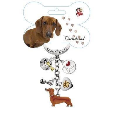 Little Gifts Dachshund Enamel Key Chain