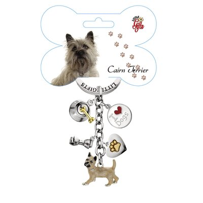 Little Gifts Cairn Terrier Enamel Key Chain