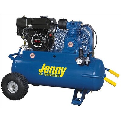 Jenny Products Inc 5.5 HP Gas Engine Single Stage Wheeled Portable Air Compressor