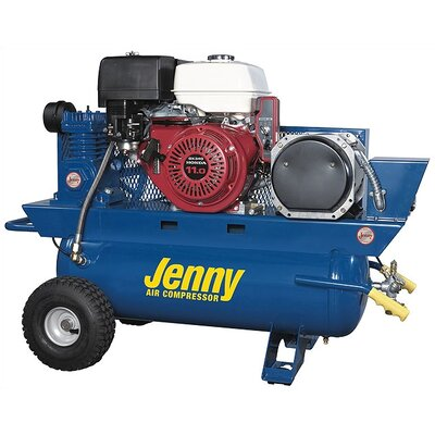 Jenny Products Inc 17 Gallon 11 HP 3000 Watt Gas Single Stage Special Portable Air Compressor