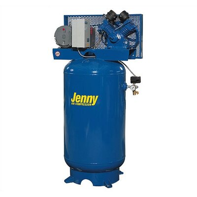 Jenny Products Inc 120 Gallon 7.5 HP Two Stage Electric Stationary Air Compressor