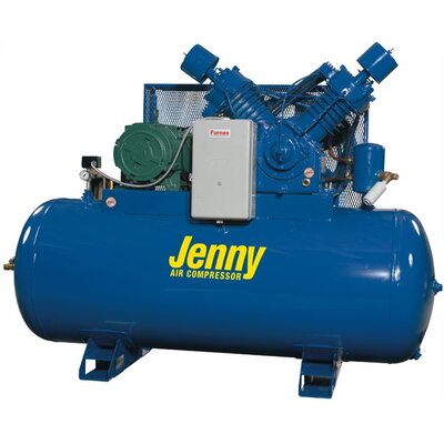 Jenny Products Inc 120 Gallon 15 HP Two Stage Electric Stationary Air Compressor