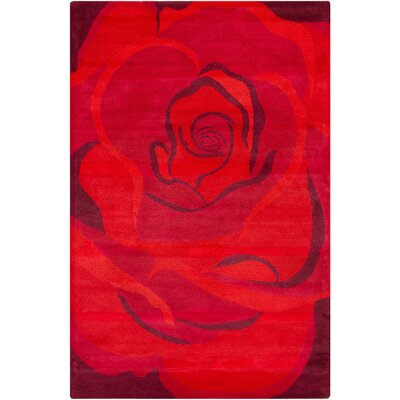 Filament  LLC Cinzia Red Rose Flower Rug