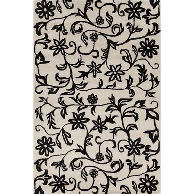 Filament  LLC Cinzia Off-White/Black Floral Rug