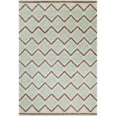 Filament Cinzia Cream/Turquoise Blue Abstract Rug