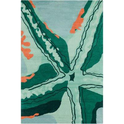 Filament Cinzia Green Abstract Rug