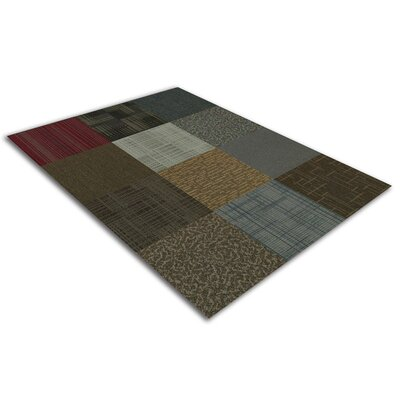 "4urFloor Kaleidoscope 24"" x 24"" Carpet Tile in Assorted"