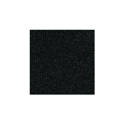 "4urFloor Ribbed 18"" x 18"" Carpet Tile in Black"