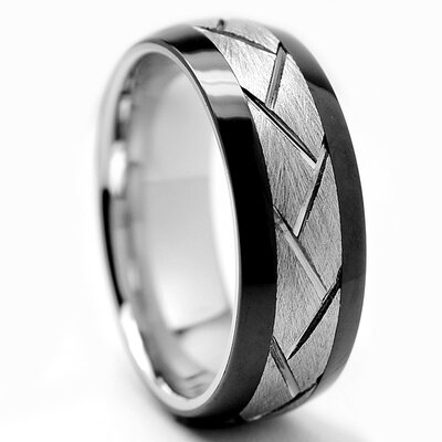 Chrome / Ceramic Cobalt Wedding Band