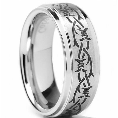 Men's Cobalt Comfort Fit Wedding Band