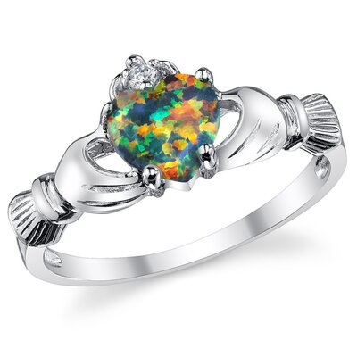 Bonndorf Laboratories Stelring Silver Irish Claddagh Friendship and Love Ring