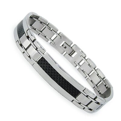 Men's Carbon Fiber Inlayl Bracelet
