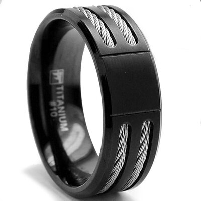 Bonndorf Laboratories Titanium / Stainless Steel Comfort Fit Wedding Band