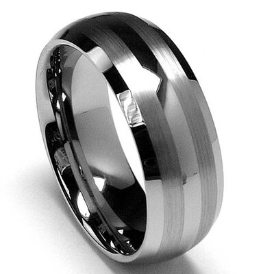 Bonndorf Laboratories Men's Tungsten Carbide Dome Comfort Fit Wedding Band