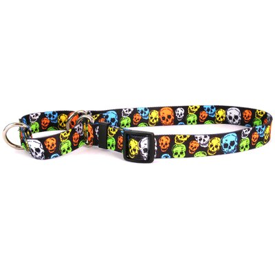 Yellow Dog Design Neon Skulls Martingale Collar