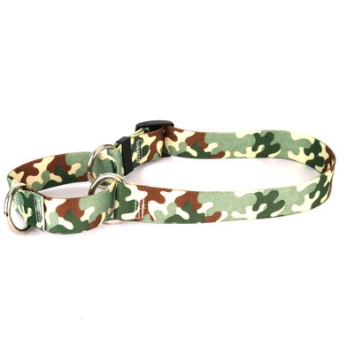 Yellow Dog Design Camo Martingale Dog Collar