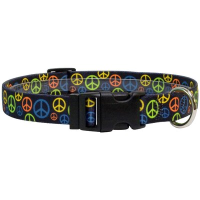 Yellow Dog Design Neon Peace Signs Standard Collar